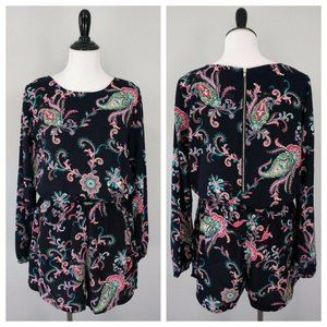 ONE CLOTHING Blue Pink Turquoise Floral Romper